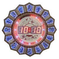 ساعت دیواری دیجیتال مدل خاتم کاری دایره قطر 35 سانتیمتر