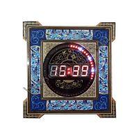 ساعت دیجیتال دیواری مدل خاتم کاری مربع سایز 35×35 سانتیمتر