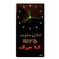 ساعت مسجد دیجیتال طرح حرم امام رضا مدل B3 عمودی