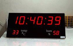 ساعت و دماسنج و رطوبت سنج دیجیتال بزرگ مدل 30-70